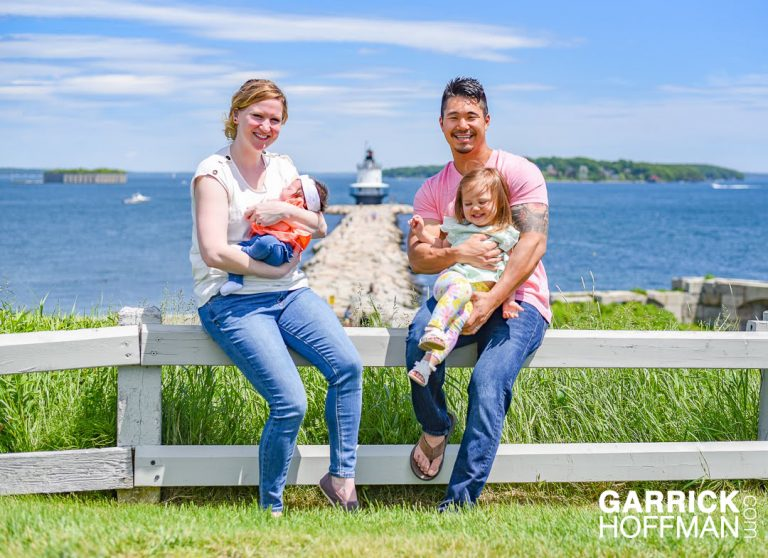 Maine Family Portrait, by Garrick Hoffman Photography