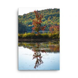 Fall Reflections, Canvas Print, by Garrick Hoffman Photography