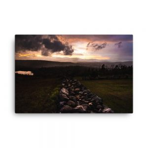 Sunset Storm, Canvas Print, by Garrick Hoffman Photography