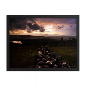 Sunset Storm, Framed Poster, by Garrick Hoffman Photography