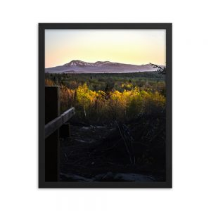 Katahdin in the Distance, Framed Poster, by Garrick Hoffman Photography