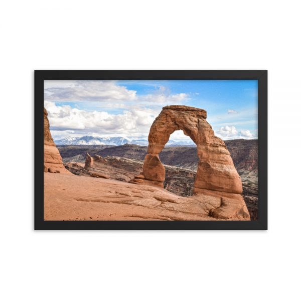 Delicate Arch, Framed Poster, by Garrick Hoffman Photography