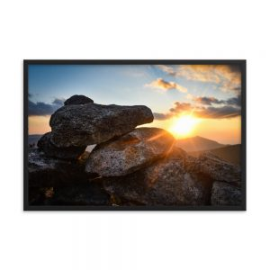 Mount Bond Sunset, Framed Poster, by Garrick Hoffman Photography