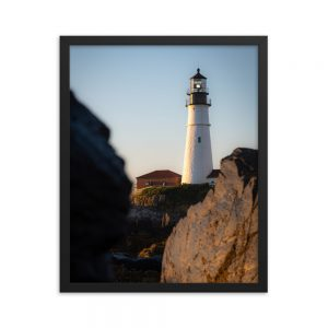 Portland Head Light, Framed Poster, by Garrick Hoffman Photography