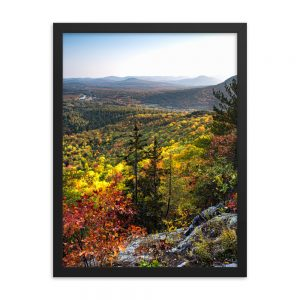 Autumn Colors from Mt. Will, Framed Poster, by Garrick Hoffman Photography
