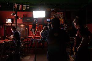 Behind the scenes portfolio photo by Garrick Hoffman Photography
