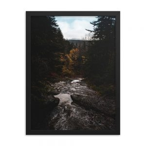 Lost in Grafton Notch, Framed Poster, by Garrick Hoffman Photography