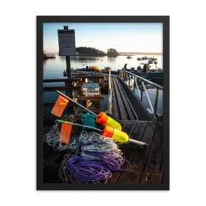 Lobsterman's Life, Framed Poster, by Garrick Hoffman Photography
