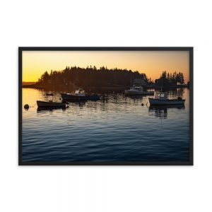 Five Islands Sunrise, Framed Poster, by Garrick Hoffman Photography