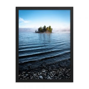 Island on Flagstaff Lake, Framed Poster, by Garrick Hoffman Photography