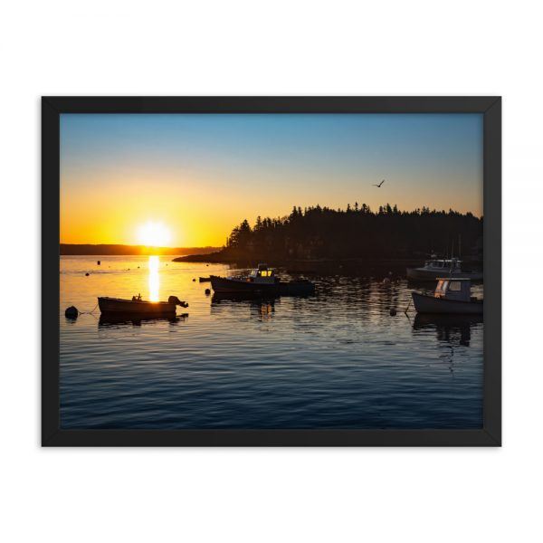 Four Boats From Five Islands, Framed Poster, by Garrick Hoffman Photography