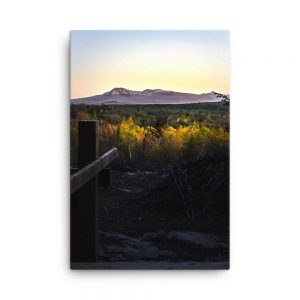 Katahdin in the Distance, Canvas Print, by Garrick Hoffman Photography