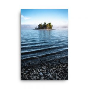 Island on Flagstaff Lake, Canvas Print, by Garrick Hoffman Photography