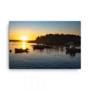 Four Boats From Five Islands, Canvas Print, by Garrick Hoffman Photography