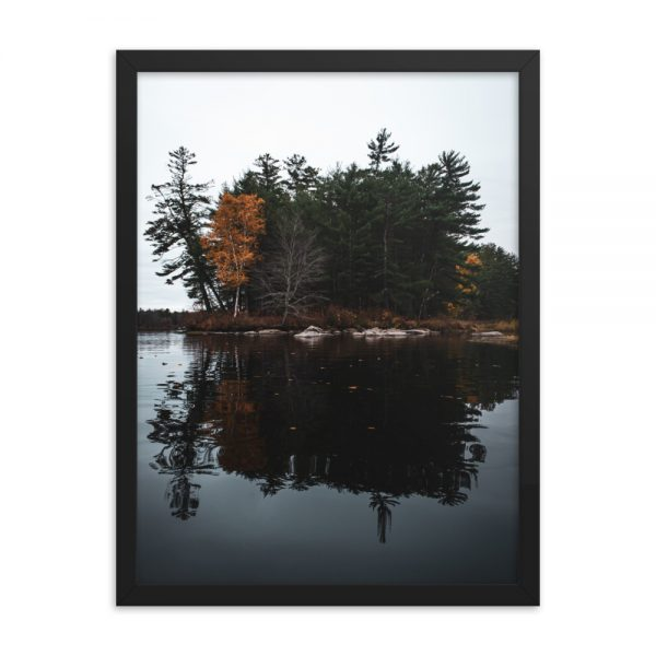 Androscoggin Mood, Framed Poster, by Garrick Hoffman Photography