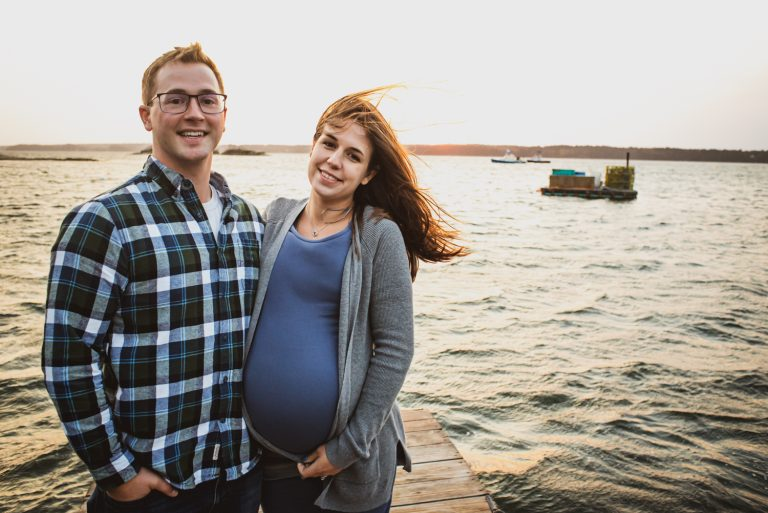 Maine Maternity, Engagement Photography, by Garrick Hoffman Photography