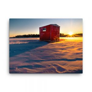 Cabin on the Lake, Canvas Print, by Garrick Hoffman Photography