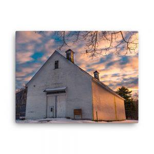Wolfes Neck Barn, Canvas Print, by Garrick Hoffman Photography