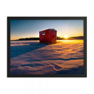 Cabin on the Lake, Framed Print, by Garrick Hoffman Photography