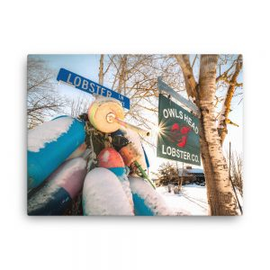 On The Corner of Lobster Lane, Canvas Print, by Garrick Hoffman Photography