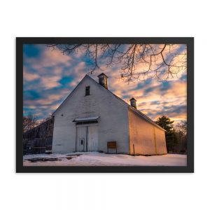 Wolfes Neck Barn, Framed Photo, by Garrick Hoffman Photography