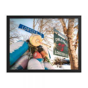 On The Corner of Lobster Lane, Framed Print, by Garrick Hoffman Photography
